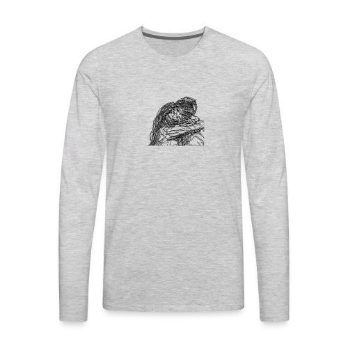 Black/ Kissing - Men's Premium Long Sleeve T-Shirt