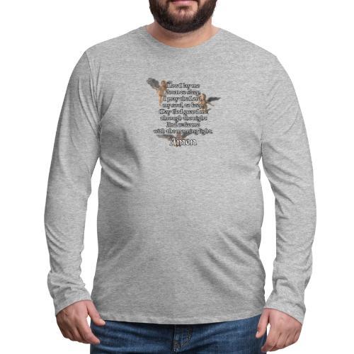 Bedtime prayer for Children - Men's Premium Long Sleeve T-Shirt