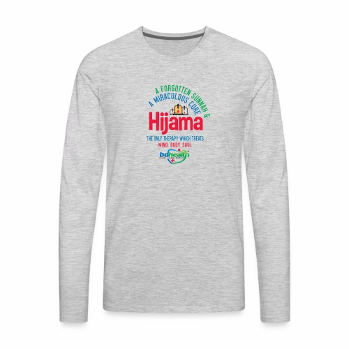 Hijama/Cupping/ Cupping therapy/ BD Health - Men's Premium Long Sleeve T-Shirt
