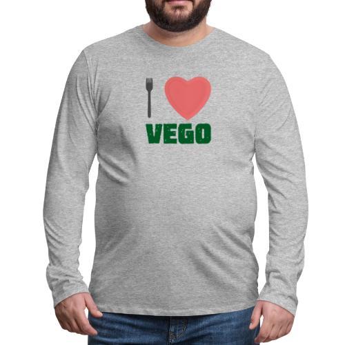 I love Vego - Clothes for vegetarians - Men's Premium Long Sleeve T-Shirt