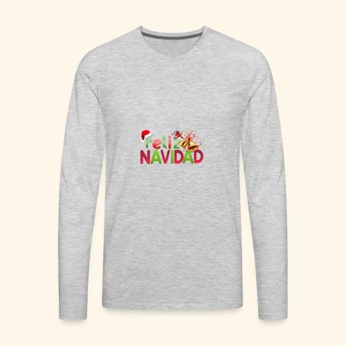 feliz navidad merch - Men's Premium Long Sleeve T-Shirt