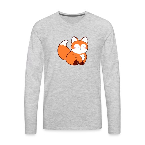 fat little baby fox - Men's Premium Long Sleeve T-Shirt