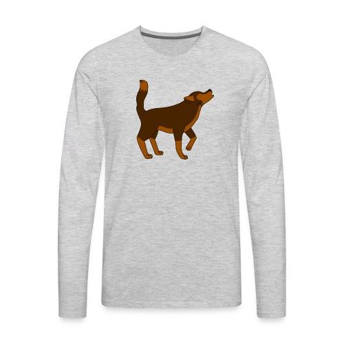 KR ASMR Howling Wolf - Men's Premium Long Sleeve T-Shirt