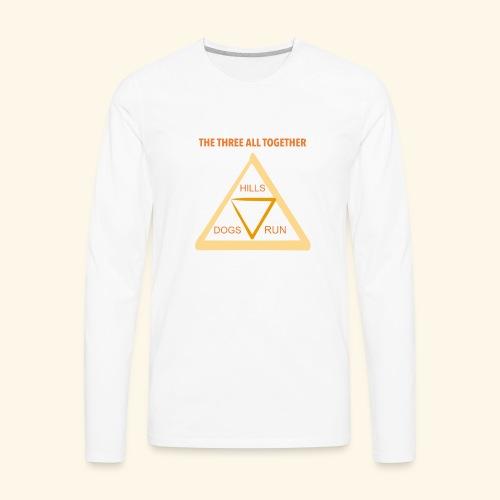 Run4Dogs Triangle - Men's Premium Long Sleeve T-Shirt