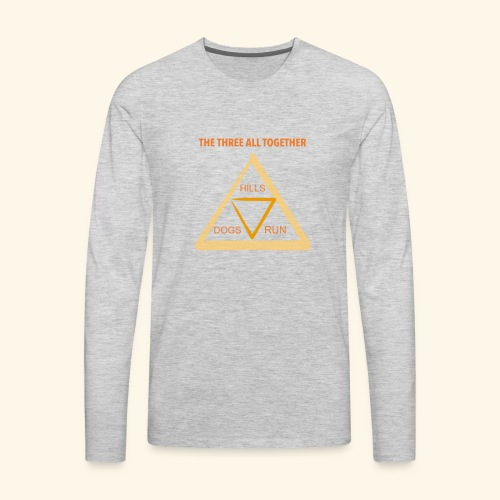 Run4Dogs Triangle - Men's Premium Long Sleeve T-Shirt