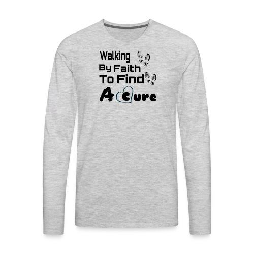 Walking By Faith Lupus Awareness Graphic Tee - Men's Premium Long Sleeve T-Shirt