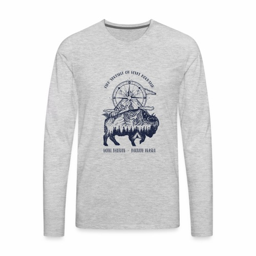 EGYPT MOUNTAIN TSHIRT - Men's Premium Long Sleeve T-Shirt