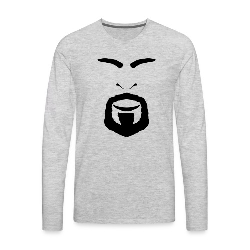 FACES_ANGRY - Men's Premium Long Sleeve T-Shirt