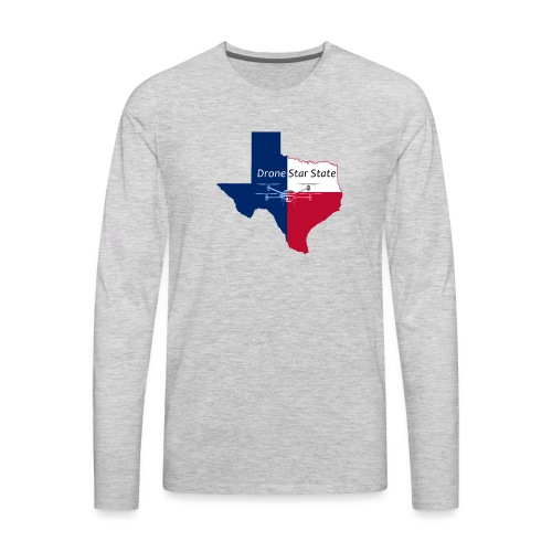 Drone Star State - Men's Premium Long Sleeve T-Shirt