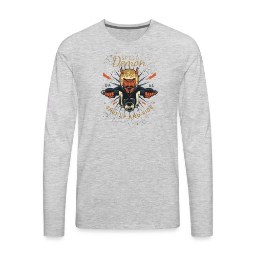 Demon Vintage Motorcycle - Men's Premium Long Sleeve T-Shirt