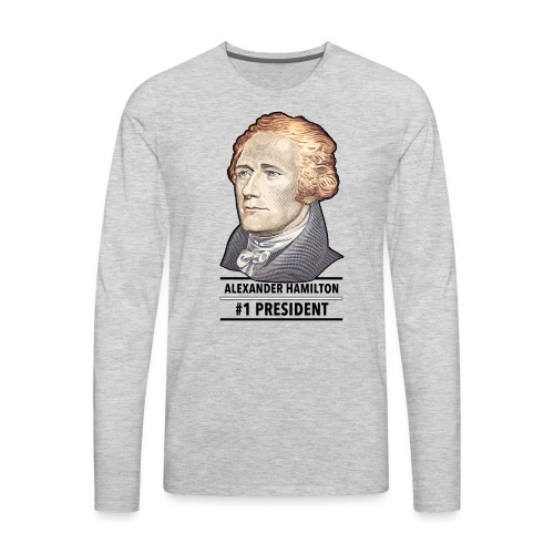 alexander hamilton number - Men's Premium Long Sleeve T-Shirt