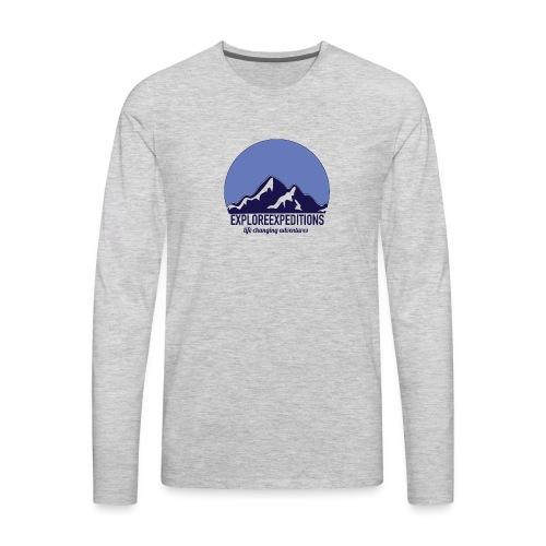 Explore Expeditions Mountains - Men's Premium Long Sleeve T-Shirt