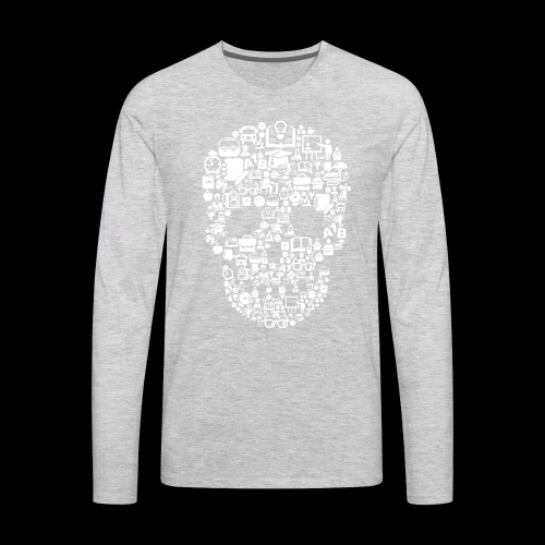 Getting Schooled Skull - Men's Premium Long Sleeve T-Shirt