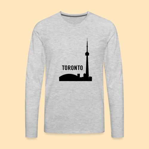 Toronto Skyline - Men's Premium Long Sleeve T-Shirt