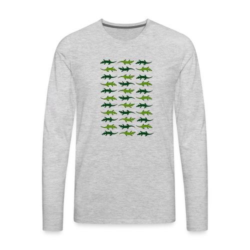 Crocs and gators - Men's Premium Long Sleeve T-Shirt