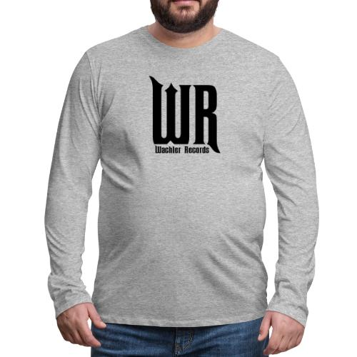 Wachler Records Dark Logo - Men's Premium Long Sleeve T-Shirt