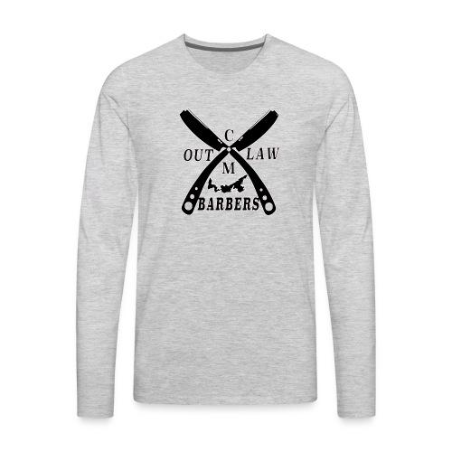 Outlaw Barbers Black Logo - Men's Premium Long Sleeve T-Shirt