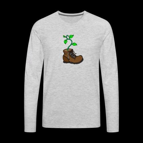 Plant In Boot - Men's Premium Long Sleeve T-Shirt