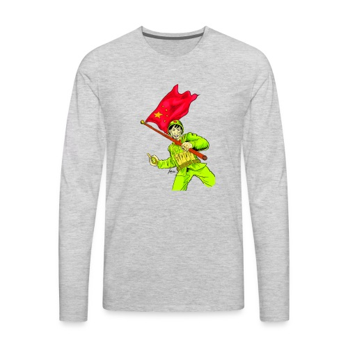 Chinese Soldier With Grenade - Men's Premium Long Sleeve T-Shirt