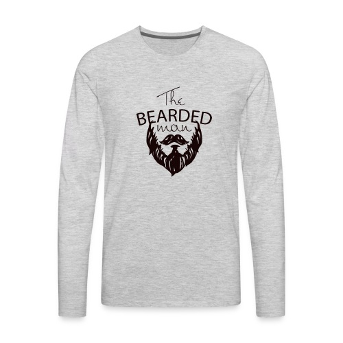 The bearded man - Men's Premium Long Sleeve T-Shirt