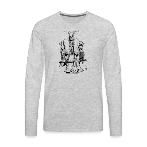 Viking warrior - Men's Premium Long Sleeve T-Shirt