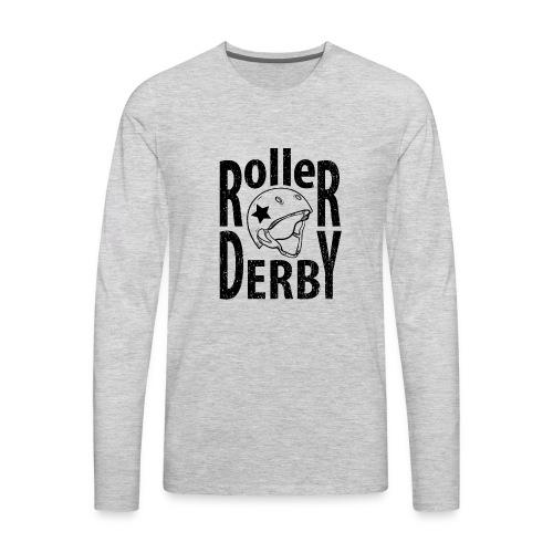 Roller derby helmet typography - Men's Premium Long Sleeve T-Shirt