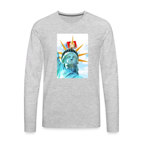 Lady Liberty Spikes Hillary - Men's Premium Long Sleeve T-Shirt