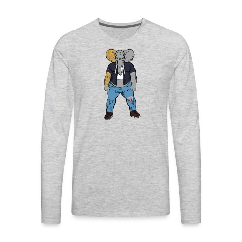 Dumbo Fell in the Wrong Crowd - Men's Premium Long Sleeve T-Shirt