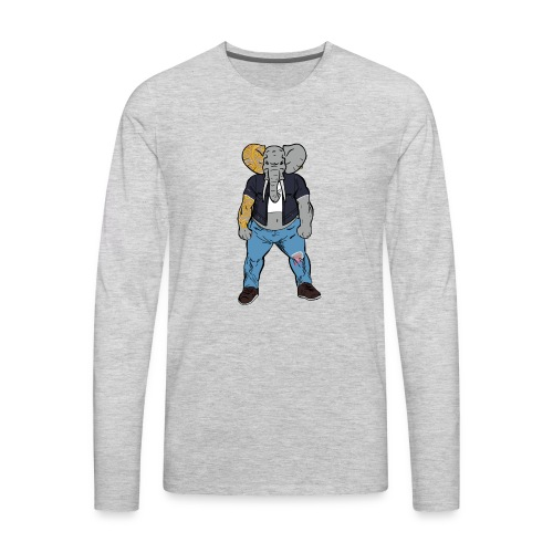 Dumbo Fell in the Wrong Crowd - Men's Premium Long Sleeve T-Shirt