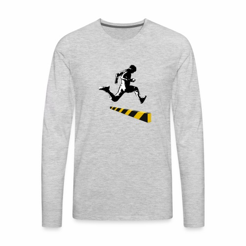 Leaping The Bounds of Caution - Men's Premium Long Sleeve T-Shirt