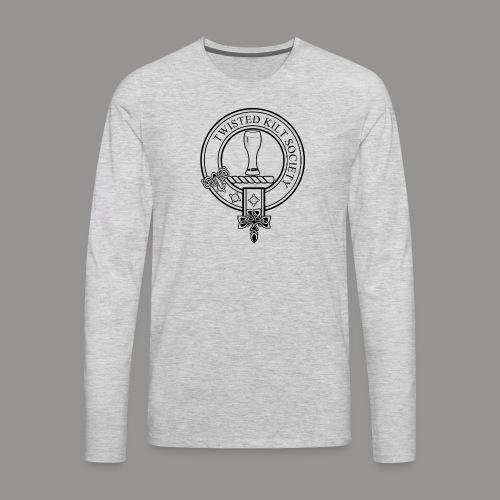 Twisted Kilt Society Crest - Men's Premium Long Sleeve T-Shirt