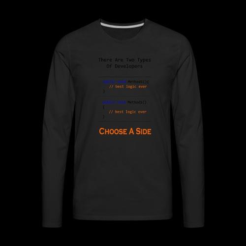 Code Styling Preference Shirt - Men's Premium Long Sleeve T-Shirt