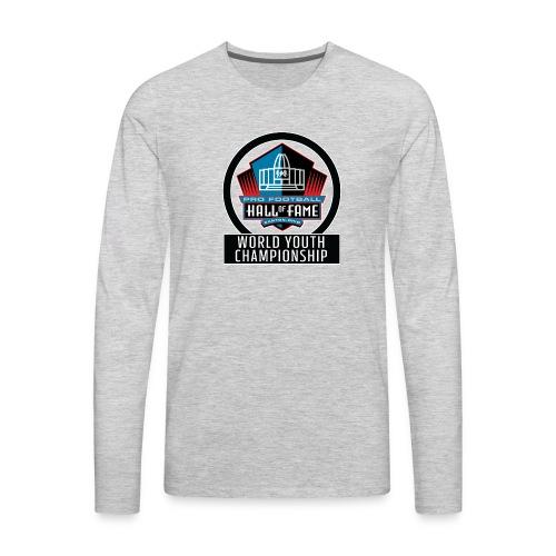 PFHOF World Youth Champ White Outline - Men's Premium Long Sleeve T-Shirt