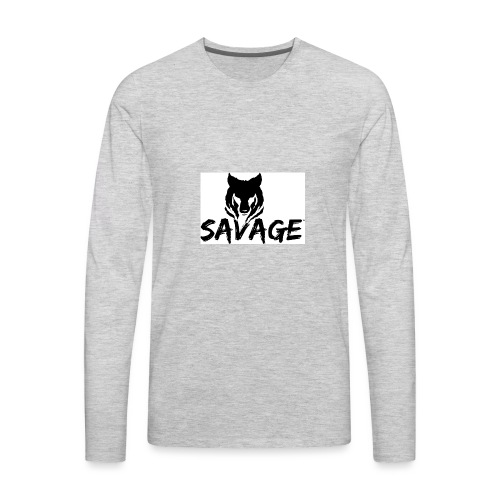 cameron is a savage - Men's Premium Long Sleeve T-Shirt