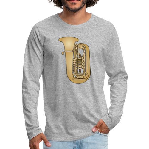 Tuba brass - Men's Premium Long Sleeve T-Shirt