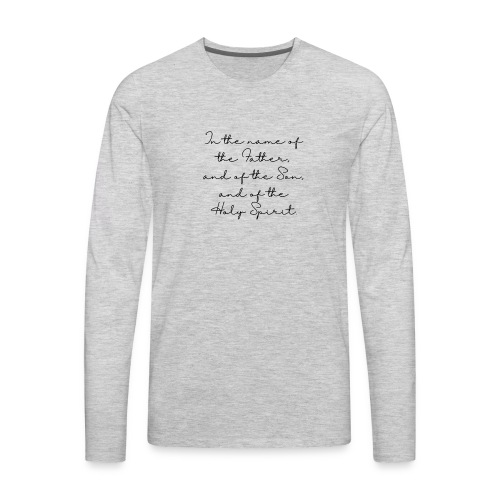 The sign of the cross - Men's Premium Long Sleeve T-Shirt