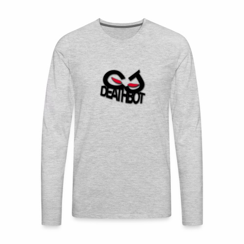 CJDEATHBOT logo - Men's Premium Long Sleeve T-Shirt