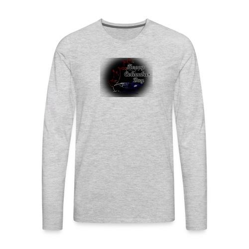 Columbus Days negro - Men's Premium Long Sleeve T-Shirt