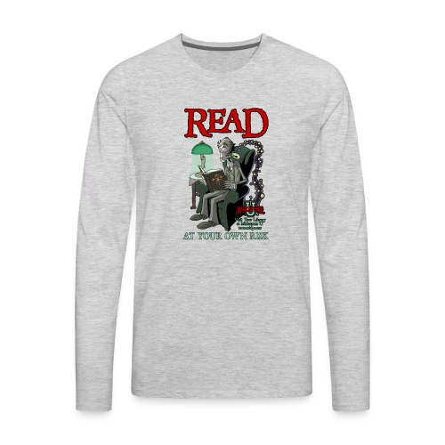 Read At Your Own Risk - Miskatonic U - Men's Premium Long Sleeve T-Shirt