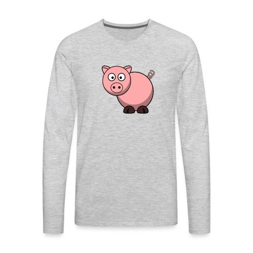 Funny Pig T-Shirt - Men's Premium Long Sleeve T-Shirt