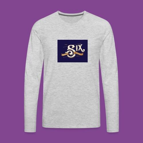 the 6 blue - Men's Premium Long Sleeve T-Shirt