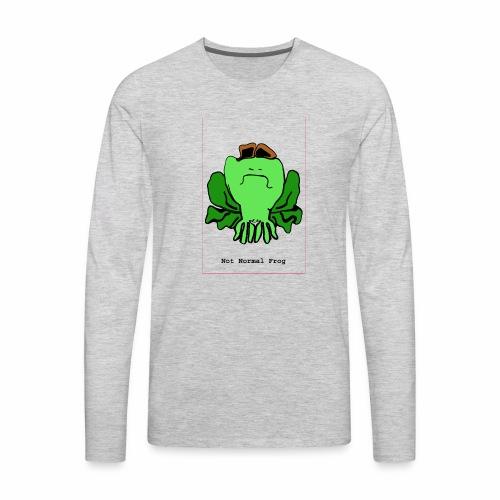 not normal frog - Men's Premium Long Sleeve T-Shirt
