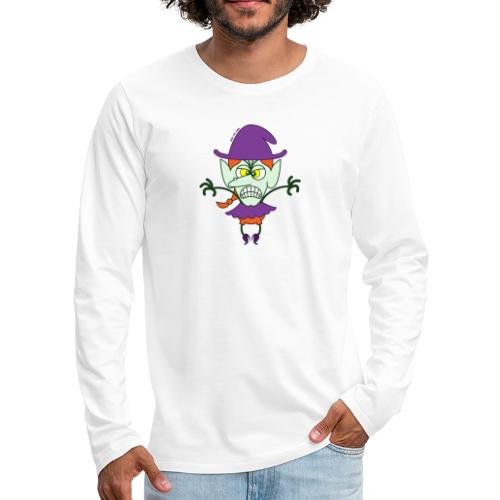 Scary Halloween Witch - Men's Premium Long Sleeve T-Shirt