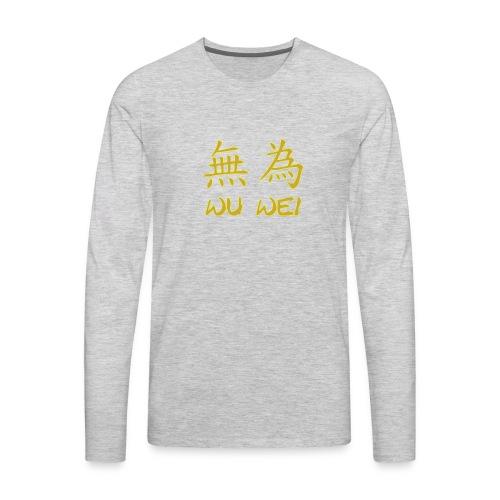 wu wei - Men's Premium Long Sleeve T-Shirt