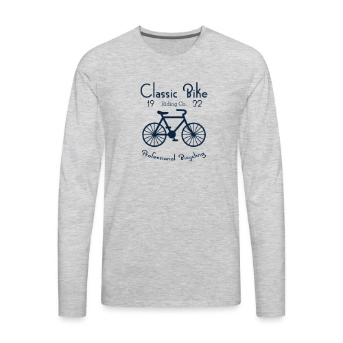 Classic Bike Professional Bicycling - Men's Premium Long Sleeve T-Shirt