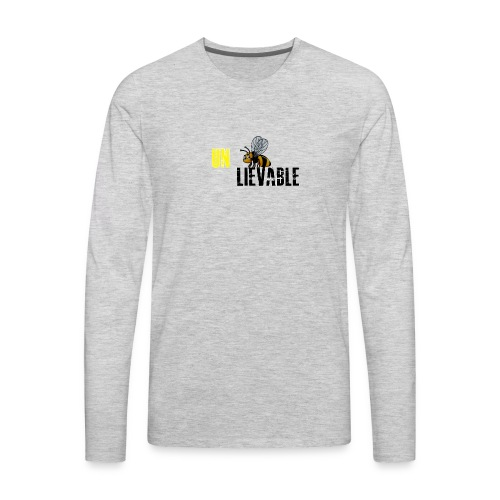 Unbee lievable Bee Design - Men's Premium Long Sleeve T-Shirt