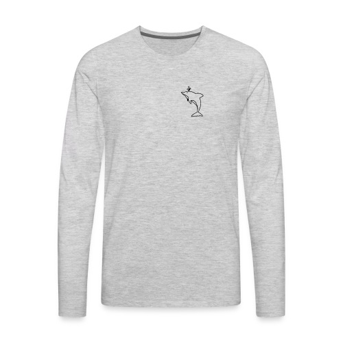 Pocket Dolphin Awesome Gift Idea for Dolphin Lover - Men's Premium Long Sleeve T-Shirt
