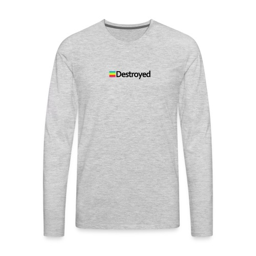 Polaroid Destroyed - Men's Premium Long Sleeve T-Shirt