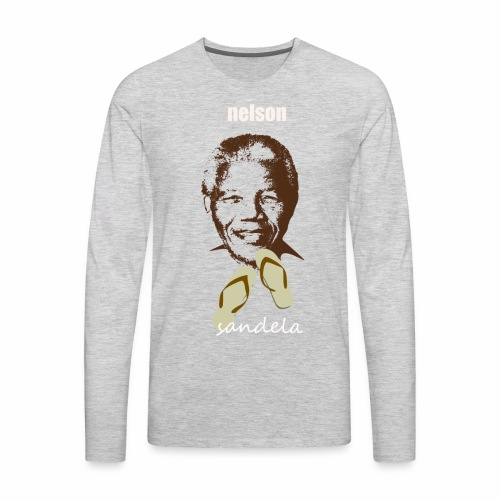 sandela nelson mandela - Men's Premium Long Sleeve T-Shirt