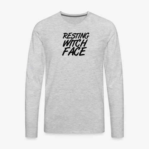 Resting Witch Face - Men's Premium Long Sleeve T-Shirt
